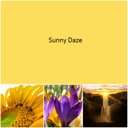 ****NEW YELLOW*** Sunny Daze - just in time for  Spring and Summer!