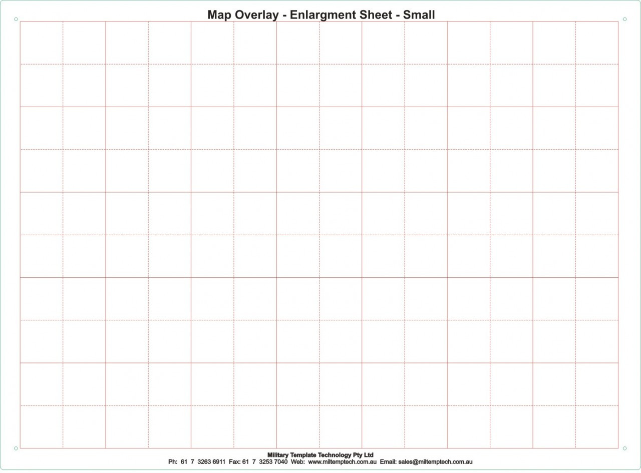 Map Enlargement Overlay Small 220 x 300 mm