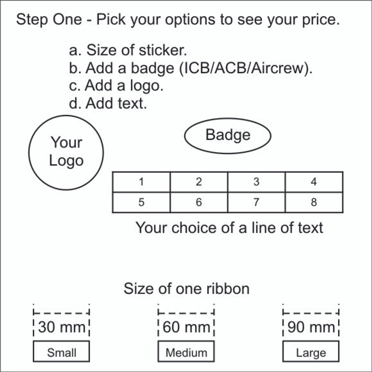 Sticker - 5 to 8 Ribbons