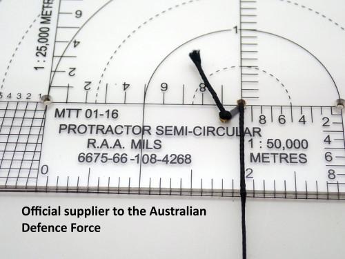 Protractor, Semi Circular, R.A.A., Mils. NSN 6675-66-108-4268