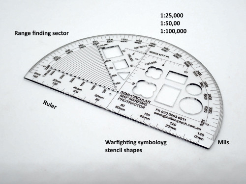 Semi Circular Map Marking Protractor