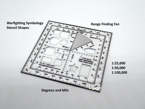 GTA 5212 Map Marking Protractor