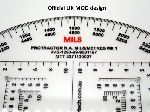 Protractor, Semi Circular, R.A., Mils-Metres. NSN 4VS-1290-99-968-1197