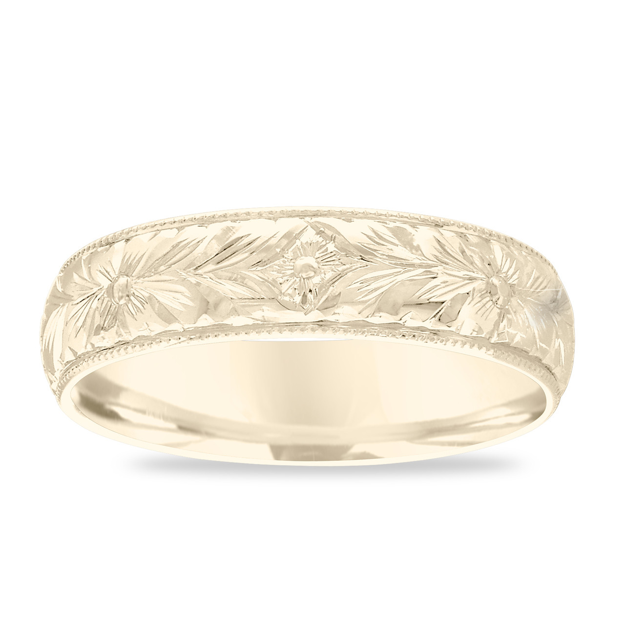 hand carved size 9 Men/'s Gold Ornate Ring