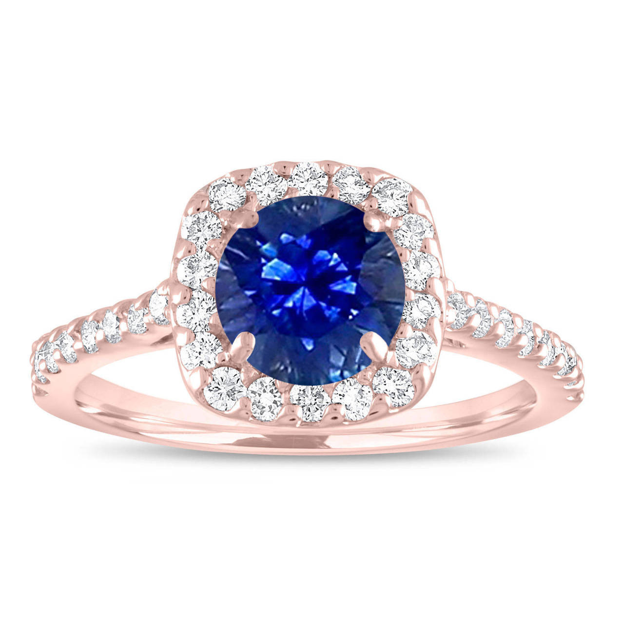 Sapphire Engagement Ring Rose Gold Sapphire And Diamonds