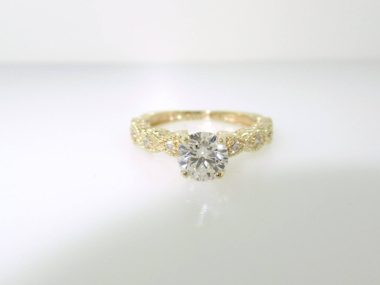 Vintage Engagement Ring Yellow Gold Diamond Engagement Ring Bridal Ring Vintage Wedding Ring 0 60 Carat Gia Certified Unique Handmade