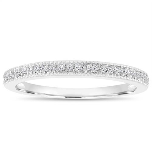18k White Gold Diamond Wedding Band Wedding Ring Half Eternity
