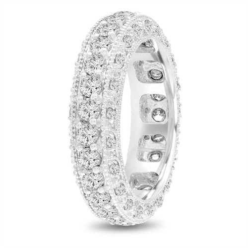 Eternity Diamond Wedding Ring Mens Diamond Wedding Band Vintage