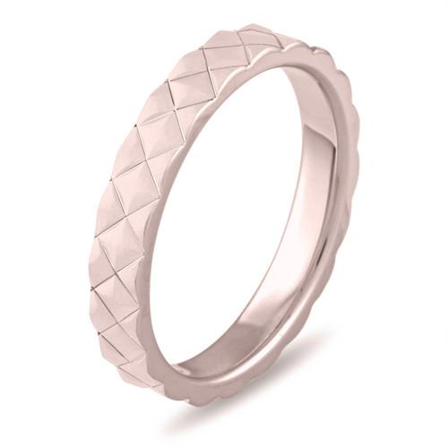 Rose Gold Wedding Band Womens Wedding Band 3 Mm Wedding Ring