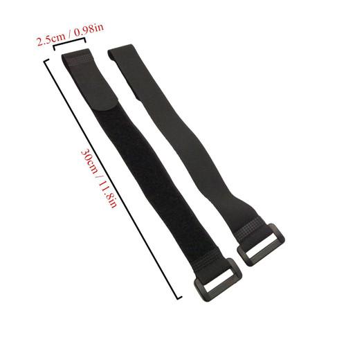 LJY 16-Pack Hook and Loop Straps Nylon Cable Ties Organizer Fastener, 11.8 in x 0.98 in / 30 cm x 2.5 cm, Black