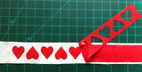 Flipped Hearts Cutout Trim