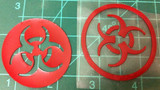 Double Biohazard Symbol Overlay