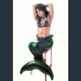 Mermaid inflatable bondage tail