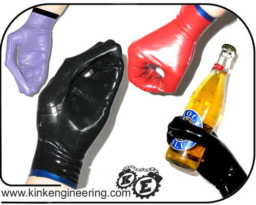Latex Mobius Gloves (pair) - Short