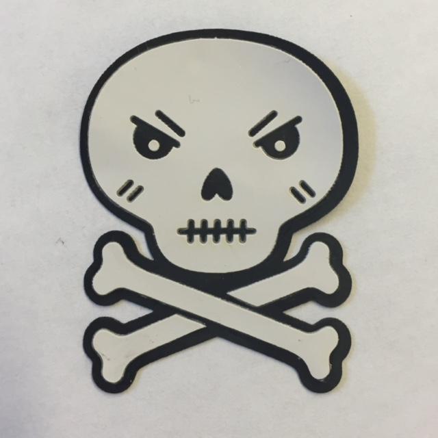Grumpy Skull - Halloween Patch