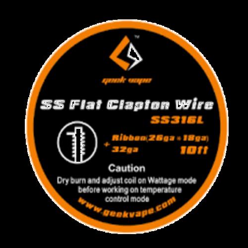 Geek vape Flat Clapton wire (Ribbon(26ga*18ga)+32ga*3m) SS316L