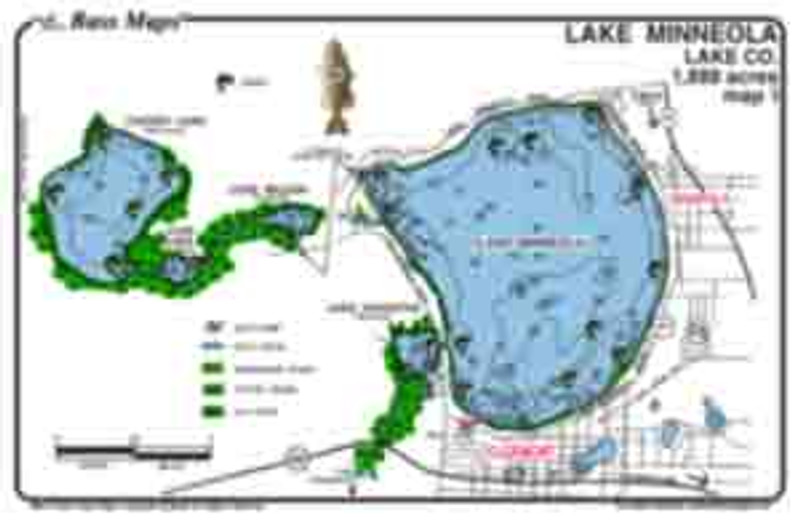 The Clermont Chain Bass map is a two sided map that is the most detailed depth/ fishing map available. Bass fishing features include dredge holes, boat docks and Bass holding vegetation like Kissimmee grass and cypress trees in an easy to read waterproof format.