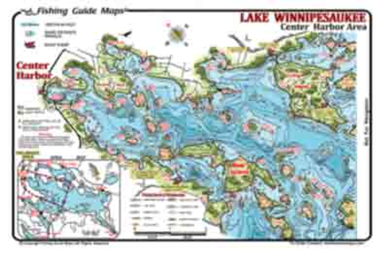 This is a  2-side waterproof  fishing map of the northand west portions of Lake Winnipesaukee.  In detail the map displays fishing spots and topography invaluable to the serious angler.