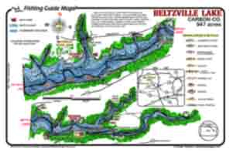 Mark Evans  Maps offer  a detailed fishing map for Beltzville  Lake.  The best fishing spots are marked.  Fish catching features include submerged road beds, the old river channel,  and weed beds.  Maps are easy to read and  waterproof.