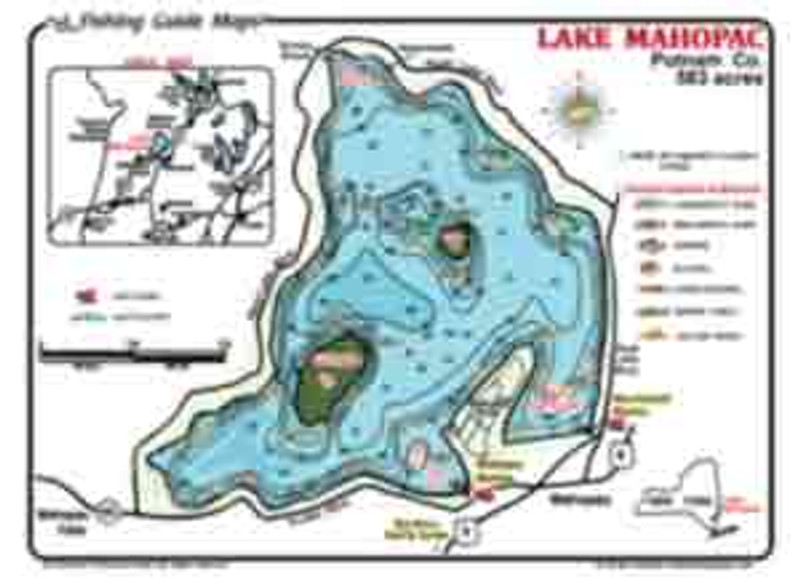 This Lake Mahopac map is waterproof, colorful, detailed and informative. Information anglers need for a successful day of fishing.