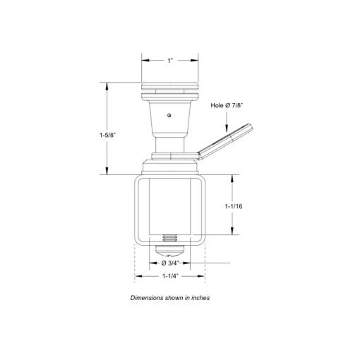 TACO Pontoon Fender Lock [F16-0220-1]