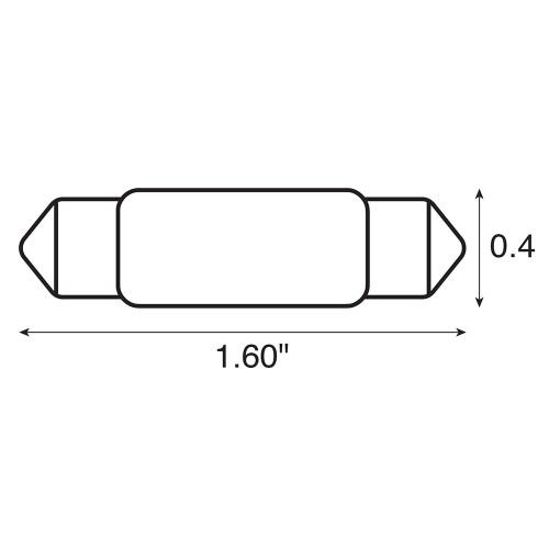 Ancor Bulb, Festoon, 12V - .97A - 15W - 12CP - 2-Pieces [522112]