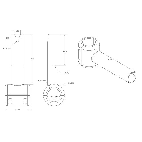 TACO ShadeFin Fixed Clamp-On Mount [T10-3000-11]