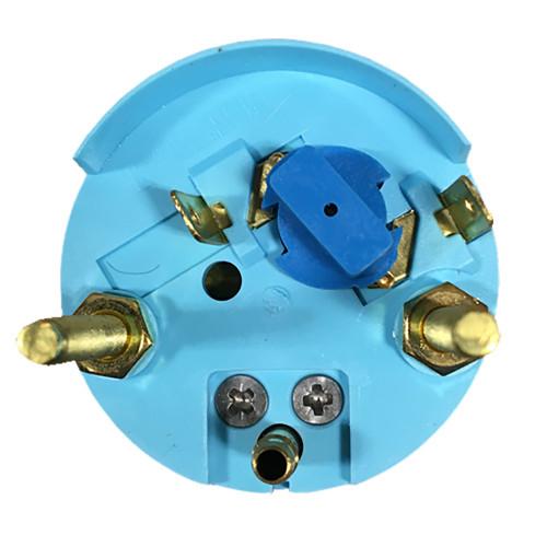 """Faria Euro Black 2"""" Water Pressure Gauge (60 PSI) [12875]"""