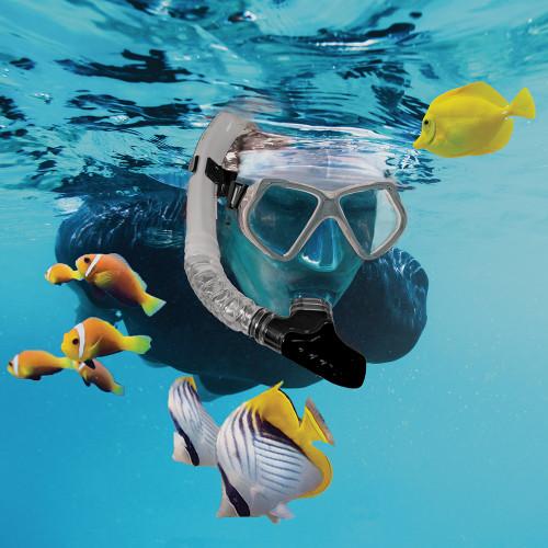Aqua Leisure Dyna Adult 5-Piece Dive Set - Adult Size L\/XL Mens 8.5-11.5\/Ladies 9.5-12.5 [DPX18230S4L]