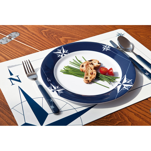 "Marine Business Melamine Non-Slip, Flat, Round Dinner Plate - NORTHWIND - 10"" Set of 6 [15001C]"