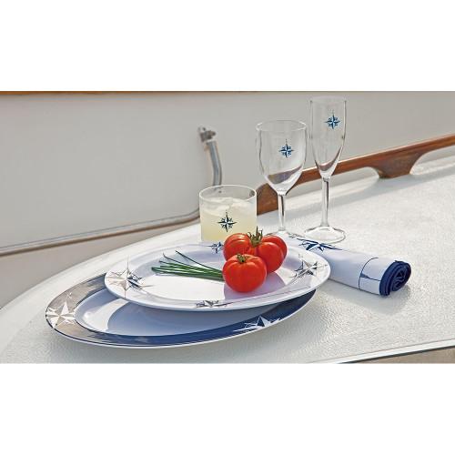 Marine Business Melamine Oval Serving Platters Set - NORTHWIND - Set of 2 [15009]