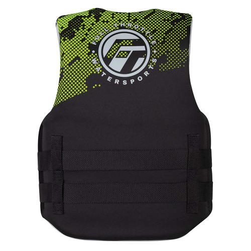 Full Throttle Junior Hinged Neoprene Life Jacket - Green [142400-400-009-22]