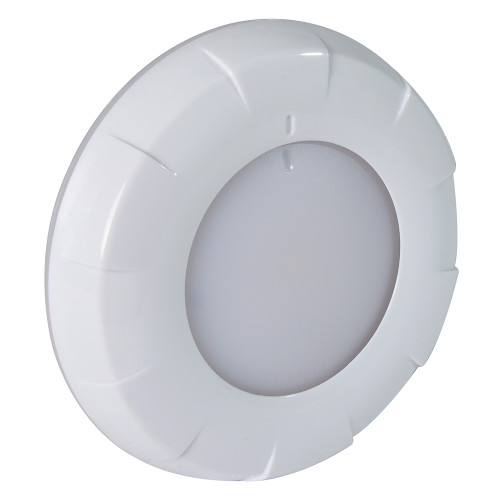 Lumitec Aurora LED Dome Light - White Finish - White\/Blue Dimming [101075]