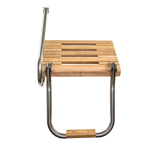 Whitecap Teak Swim Platform w\/Ladder f\/Outboard Motors [60902]