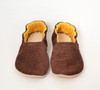 Chocolate Corduroy Bison Booties Slippers