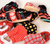 Red Polka Dot Bison Booties 12-18 months