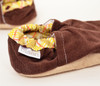 Chocolate Corduroy Bison Booties 0-6 months