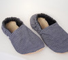 Denim Stripe Bison Booties Child Slippers