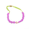 Junior Spring Heart Glow in the Dark Chewbeads Necklace Fuchsia Purple