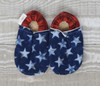 Americana Bison Booties 6-12 months