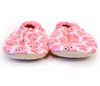 Pink Owl Flannel Bison Booties 12-18 months
