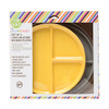 Gray + Yellow 2 Pack Silicone Plates Chewbeads CB Eat
