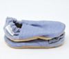 Chambray Denim Bison Booties 12-18 months