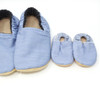 Chambray Blue Child Bison Booties Slippers