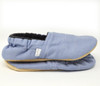 Chambray Blue Bison Booties Slippers