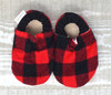 Redwood Flannel Bison Booties 0-6 months