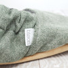 Conifer Flannel Bison Booties Slippers
