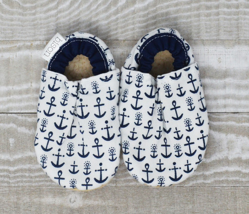 Ahoy Anchor Bison Booties 12-18 months