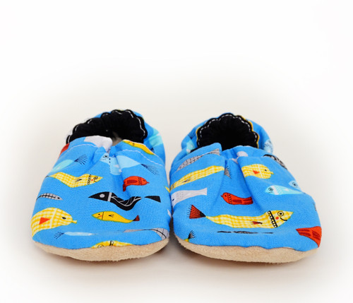 Gone Fishing Bison Booties 12-18 months