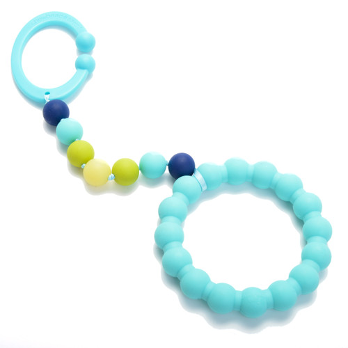 Turquoise Gramercy Stroller Toy Chewbeads